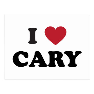 Amo Cary Carolina del Norte Tarjetas Postales