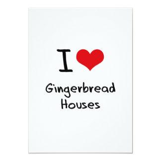 """Amo casas de pan de jengibre invitación 5"""" x 7"""""""