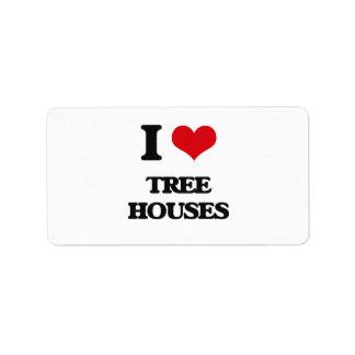 Amo casas en el árbol etiquetas de dirección