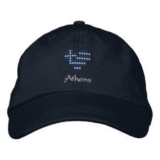 Amo casquillo de Atenas, Grecia - gorra griego de  Gorras De Béisbol Bordadas