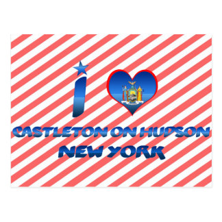 Amo Castleton en el Hudson, Nueva York Tarjetas Postales