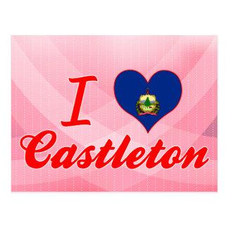 Amo Castleton, Vermont Tarjeta Postal