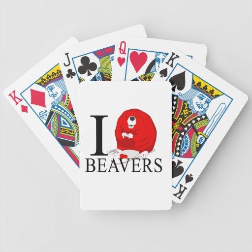 Amo castores cartas de juego