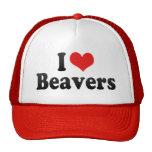 Amo castores gorras