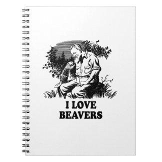 Amo castores cuadernos