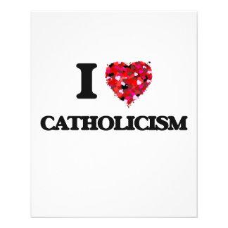 "Amo catolicismo folleto 4.5"" x 5.6"""