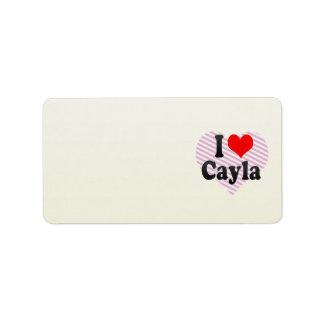 Amo Cayla Etiquetas De Dirección