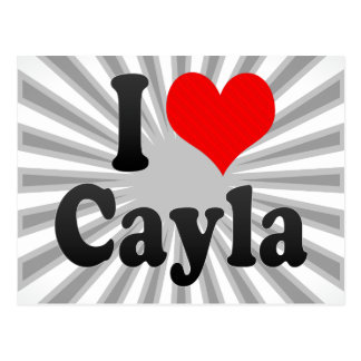 Amo Cayla Tarjetas Postales