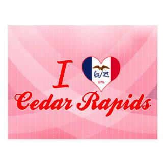 Amo Cedar Rapids, Iowa Tarjetas Postales