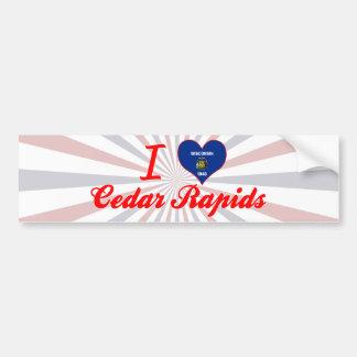 Amo Cedar Rapids, Wisconsin Etiqueta De Parachoque