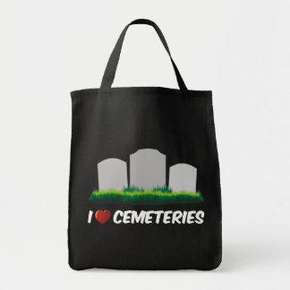 Amo cementerios bolsa tela para la compra