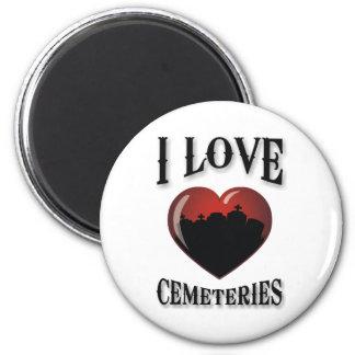 Amo cementerios imán redondo 5 cm