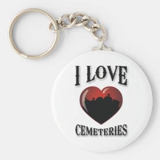 Amo cementerios llavero redondo tipo pin