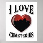Amo cementerios poster