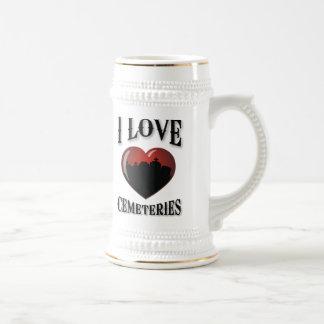 Amo cementerios taza de café