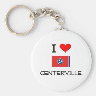 Amo Centerville Tennessee Llavero Redondo Tipo Pin