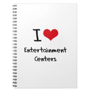 Amo centros de entretenimiento libreta espiral