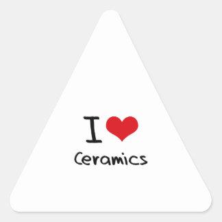 Amo cerámica pegatina triangular