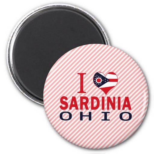 Amo Cerdeña, Ohio Imanes De Nevera