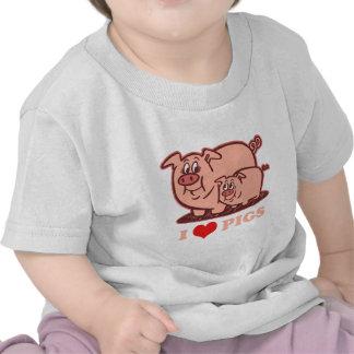 Amo cerdos camisetas