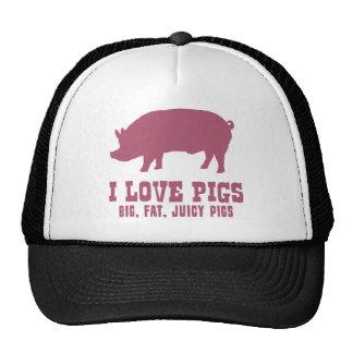 Amo cerdos gorro de camionero