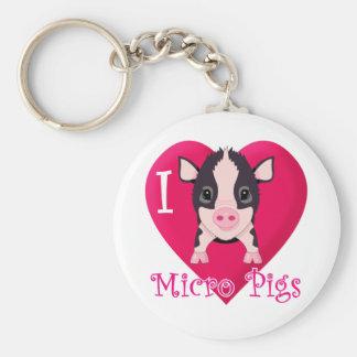 Amo cerdos micro llavero redondo tipo pin