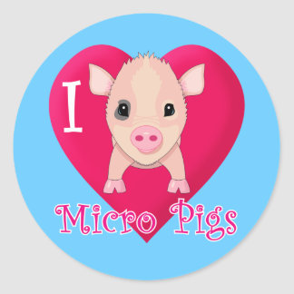 Amo cerdos micro etiqueta