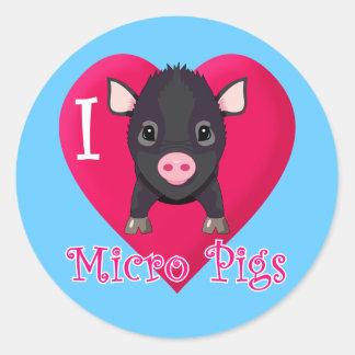 Amo cerdos micro pegatina