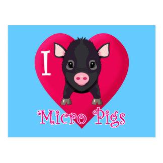 Amo cerdos micro postales