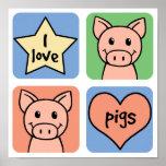 Amo cerdos posters