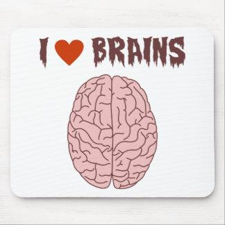 Amo cerebros tapete de raton