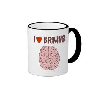 Amo cerebros taza de café