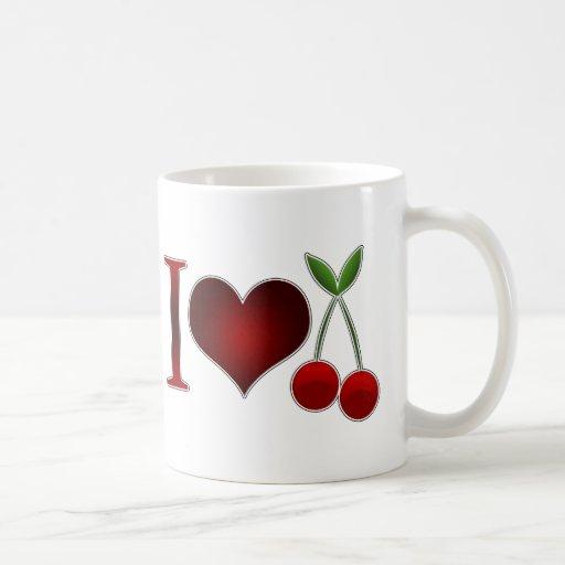 Amo cerezas taza