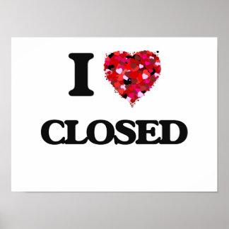 Amo cerrado póster