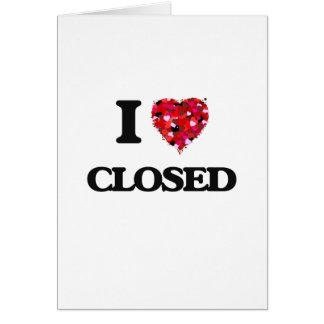 Amo cerrado tarjeta de felicitación
