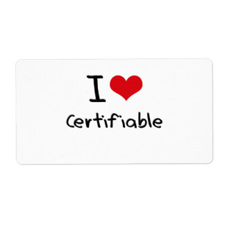 Amo certificable etiqueta de envío