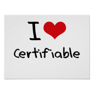 Amo certificable poster