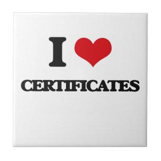Amo certificados azulejo ceramica