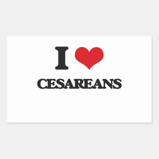 Amo Cesareans Pegatina Rectangular