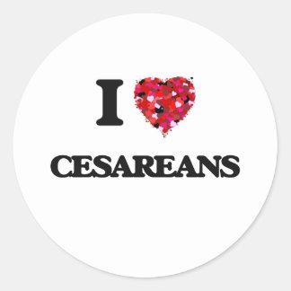Amo Cesareans Pegatina Redonda