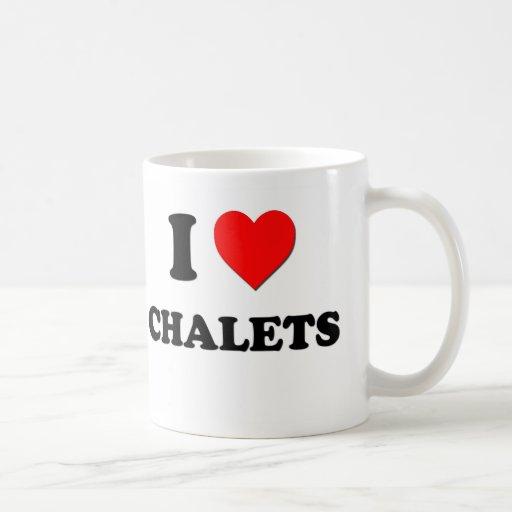 Amo chalets taza de café
