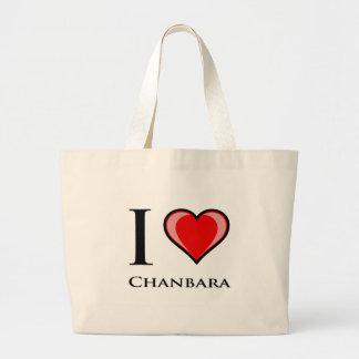 Amo Chanbara Bolsas Lienzo
