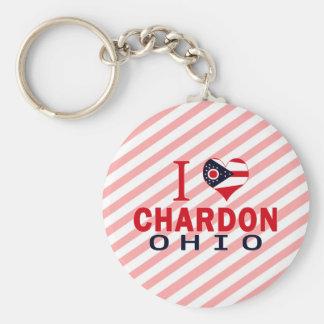 Amo Chardon, Ohio Llaveros Personalizados