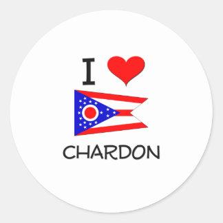 Amo Chardon Ohio Pegatina