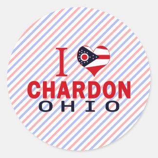 Amo Chardon, Ohio Pegatina