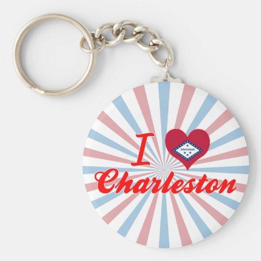 Amo Charleston, Arkansas Llaveros Personalizados