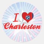 Amo Charleston, Tennessee Pegatinas Redondas