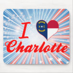 Amo Charlotte, Carolina del Norte Alfombrilla De Ratones