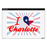 Amo Charlotte, Tejas Calcomanía Para Portátil