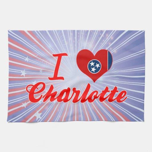Amo Charlotte, Tennessee Toallas De Mano